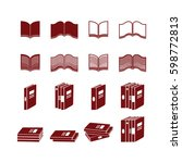 book icons set | Shutterstock .eps vector #598772813