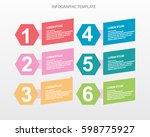 infographic design template... | Shutterstock .eps vector #598775927