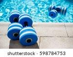 sportive equipment for aqua... | Shutterstock . vector #598784753
