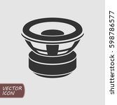 car subwoofer icon | Shutterstock .eps vector #598786577