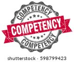 competency. stamp. sticker.... | Shutterstock .eps vector #598799423