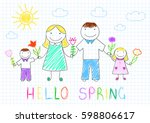 hello spring. happy family