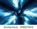 abstract speed tunnel warp in...   Shutterstock . vector #598815653