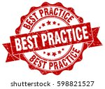 best practice. stamp. sticker.... | Shutterstock .eps vector #598821527