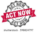 act now. stamp. sticker. seal.... | Shutterstock .eps vector #598824797