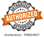 authorized. stamp. sticker.... | Shutterstock .eps vector #598824827