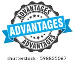 advantages. stamp. sticker.... | Shutterstock .eps vector #598825067