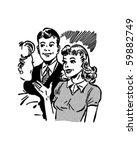 meeting the boyfriend   retro... | Shutterstock .eps vector #59882749