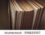 view of old book pages.... | Shutterstock . vector #598835507