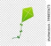 kite sign. vector. green...   Shutterstock .eps vector #598855673