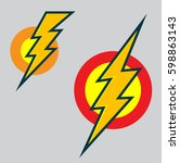 flash vector icon | Shutterstock .eps vector #598863143