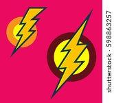 flash vector icon | Shutterstock .eps vector #598863257