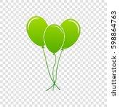 Balloons Set Sign. Vector....