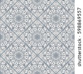 seamless texture with arabic... | Shutterstock .eps vector #598869557