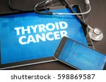 thyroid cancer  cancer type ... | Shutterstock . vector #598869587