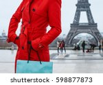 bright in paris. closeup on... | Shutterstock . vector #598877873