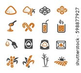 cane icon | Shutterstock .eps vector #598877927