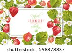 vector strawberry horizontal... | Shutterstock .eps vector #598878887