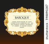 vector baroque frame | Shutterstock .eps vector #598890287