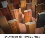 samples of wooden furniture mdf ... | Shutterstock . vector #598927883