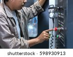 controls the cnc milling... | Shutterstock . vector #598930913