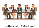 set of business characters... | Shutterstock .eps vector #598945673