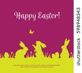 colorful easter background with ... | Shutterstock .eps vector #598948343