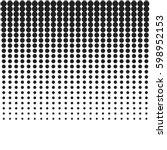 halftone modern texture... | Shutterstock .eps vector #598952153