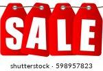 sale inscription design... | Shutterstock .eps vector #598957823