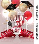 graduation party 2017 banner... | Shutterstock .eps vector #598961183