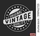 t shirt print design. original... | Shutterstock .eps vector #598961723