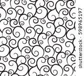 elegant curly seamless vector... | Shutterstock .eps vector #598965197
