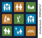father icons set. set of 9... | Shutterstock .eps vector #598968767