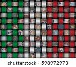 interwoven italian flag and... | Shutterstock . vector #598972973