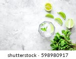 making mojito on stone... | Shutterstock . vector #598980917