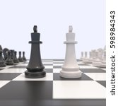 two chess pieces on a... | Shutterstock . vector #598984343