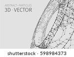 abstract vector tunnel... | Shutterstock .eps vector #598984373