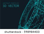 abstract vector tunnel... | Shutterstock .eps vector #598984403