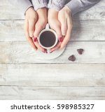 cup drink for breakfast in the...   Shutterstock . vector #598985327