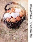 Basket Full Of Fresh Farm Eggs...