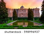 sunset view of madrid royal... | Shutterstock . vector #598996937
