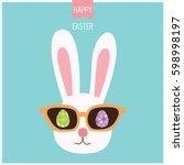 illustration vector of bunny...   Shutterstock .eps vector #598998197
