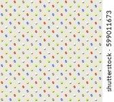 polka dot pattern. seamless... | Shutterstock .eps vector #599011673