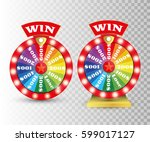 set of colorful wheel of... | Shutterstock .eps vector #599017127