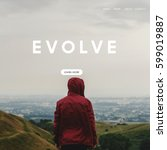 Small photo of Evolve overlay word young people