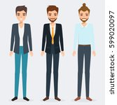 set of business man character.... | Shutterstock . vector #599020097