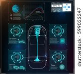 futuristic user interface. hud... | Shutterstock .eps vector #599023247