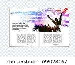 brochure layout | Shutterstock .eps vector #599028167