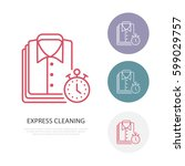 express dry cleaning icon ... | Shutterstock .eps vector #599029757