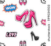 online shopping collection....   Shutterstock .eps vector #599034503